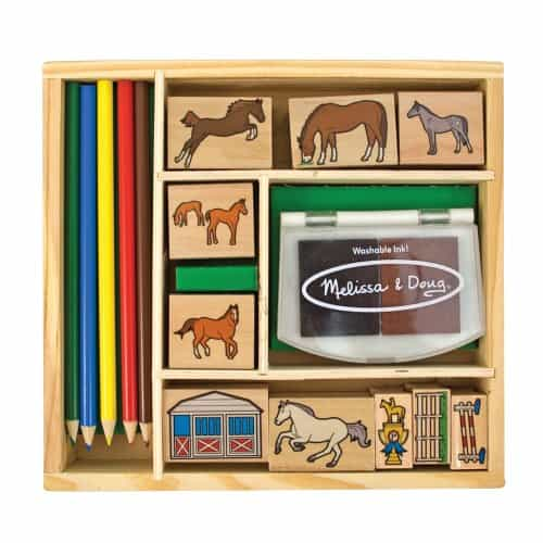 melissa and doug horse stable stamp set
