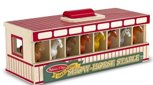 melissa and doug show horse stable