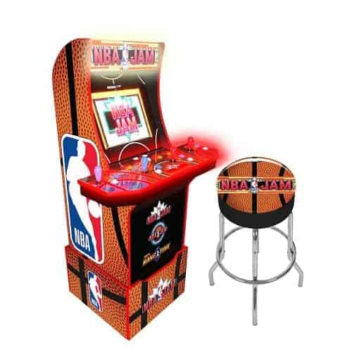 NBA Jam Upright Arcade Game with Riser - gifts for NBA fans