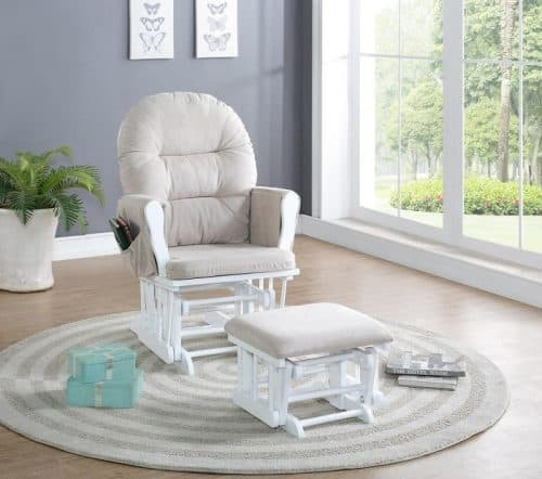 Naomi Home Brisbane Glider and Ottoman Set - Great for the nursery!