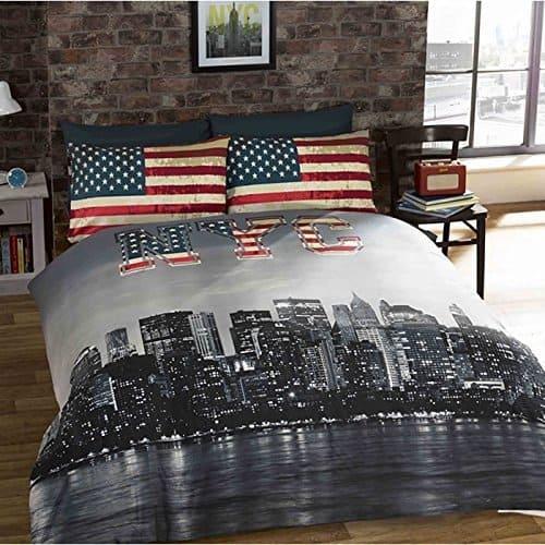 New York Skyline Double Duvet Cover + pillowcase set