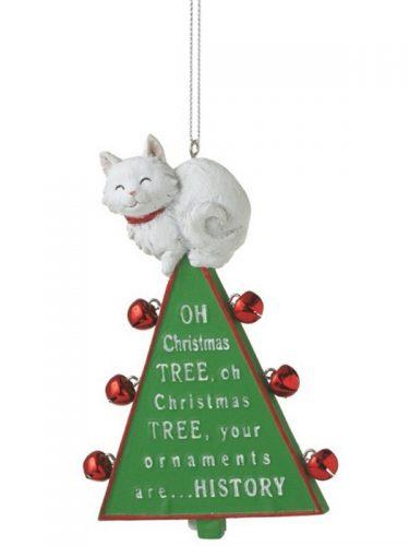 Oh Christmas Tree Cat Christmas Ornament