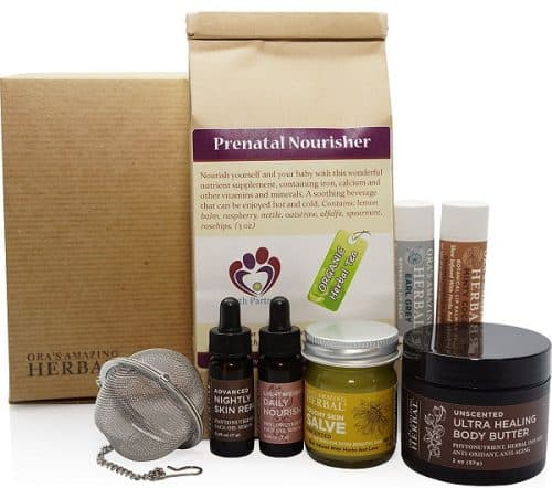 Ora's Amazing Herbal Naturally Beautiful Pregnancy Gift Box - Great gift for the Mom to be!