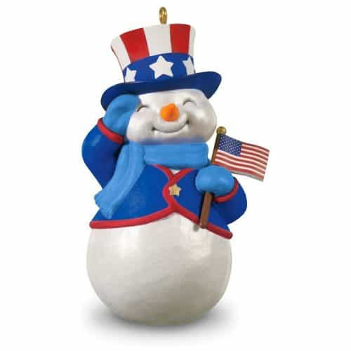 Patriotic Snowman Christmas Ornament Hallmark Keepsake Ornament