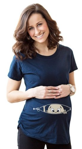 Peeking Baby Maternity T-Shirt