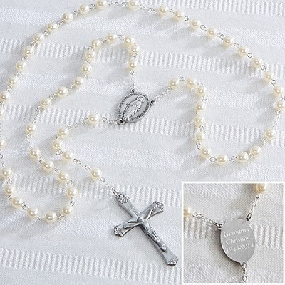 Personalized Adult Pearl Rosary
