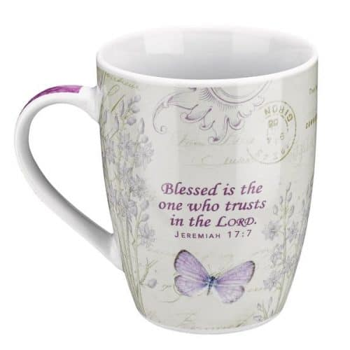 Purple Butterfly Blessed Mug - Religious gifts for her