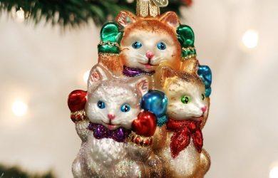 3 little kittens Christmas ornament