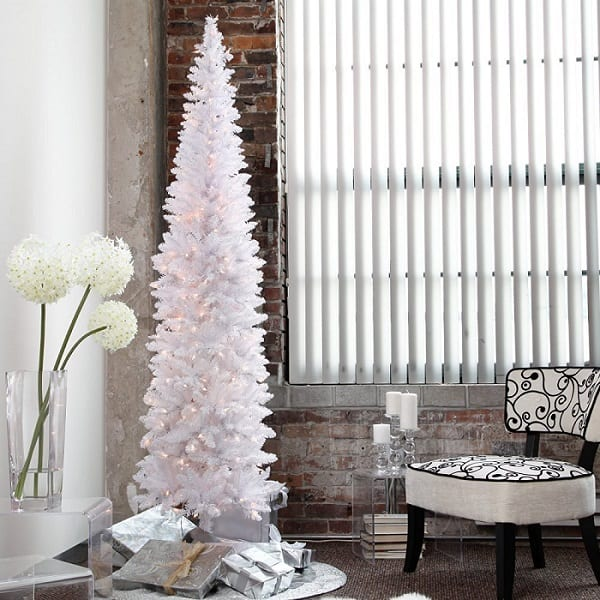 Pencil Thin Artificial Christmas Tree