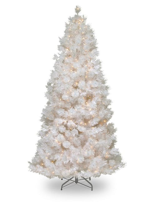 5 best pre lit white christmas trees 2017 absolute christmas - Arbol navidad blanco ...