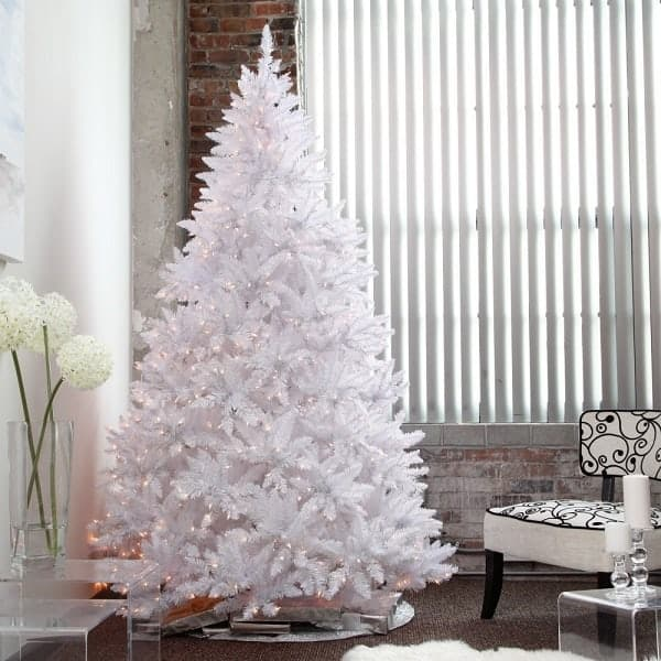 5 Best Pre Lit White Christmas Trees 2017 Absolute Christmas
