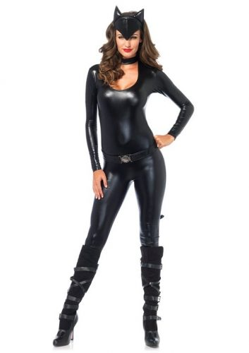 Women's 3 Piece Frisky Catsuit Costume - Purrr!! - Look like #catwoman at your next party!