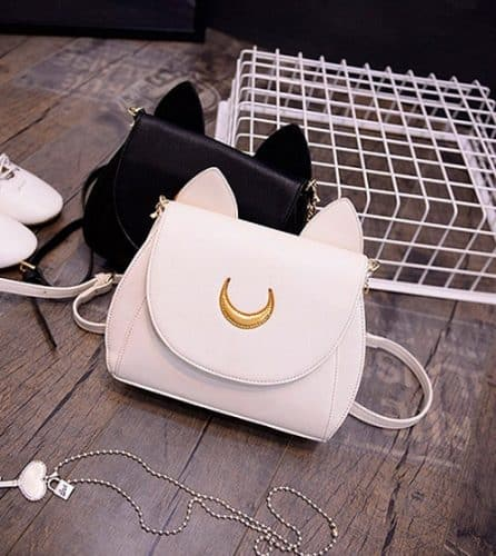 cute cat purse with a crescent moon - Love This!