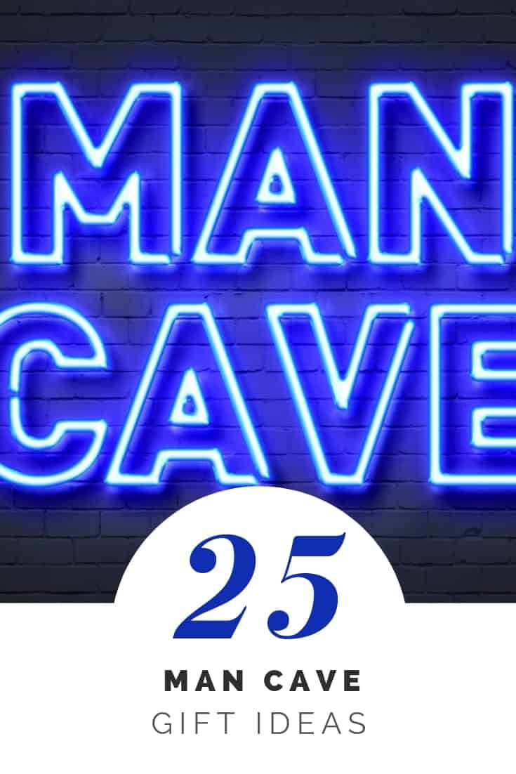 25 Man Cave Gift Ideas - We found some of the coolest stuff and best man cave ideas he'll want to put in his sacred space. Check out our gift guide with our favorite man cave gift ideas.