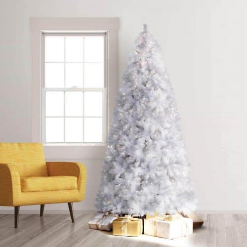 7 ft winter white artificial christmas tree with clear lights - Best White Christmas Tree