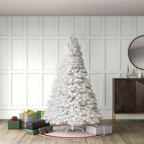 7.5 ft. White Artificial Christmas Tree with 750 Clear Lights