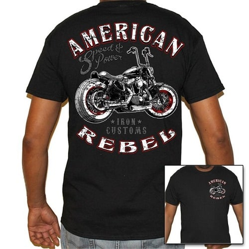 American Rebel Biker T-Shirt - Gift for motorcycle lovers
