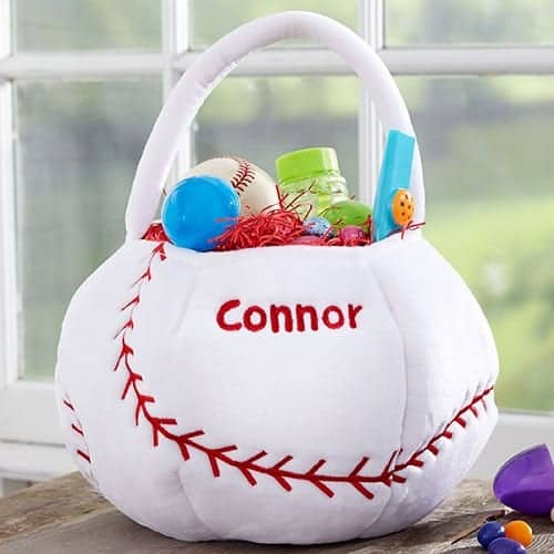 Baseball Embroidered Easter Basket