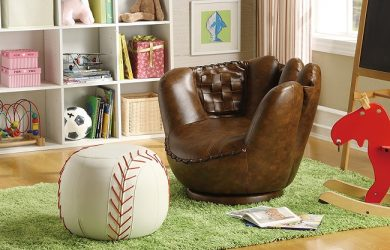Baseball Glove Chair and Ottoman - Gift for a baseball lover