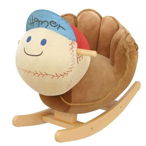 Baseball Glove Kids Rocker with Music - gift for a young baseball lover