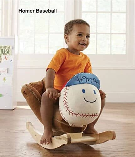 Baseball Rocking Chair - Baseball Themed Baby Gifts