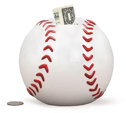 Baseball Shaped Piggy Bank - Gifts for baseball lovers