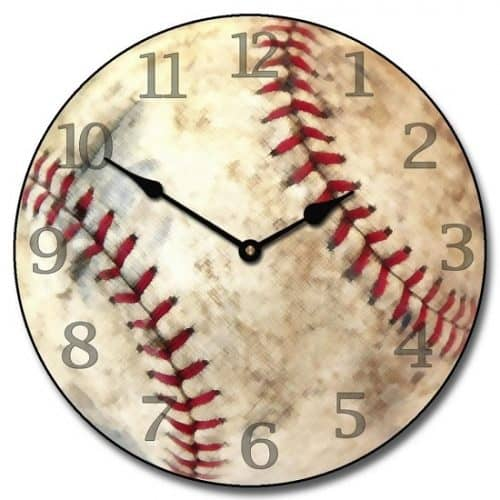 Baseball Wall Clock - Baseball Themed Gifts