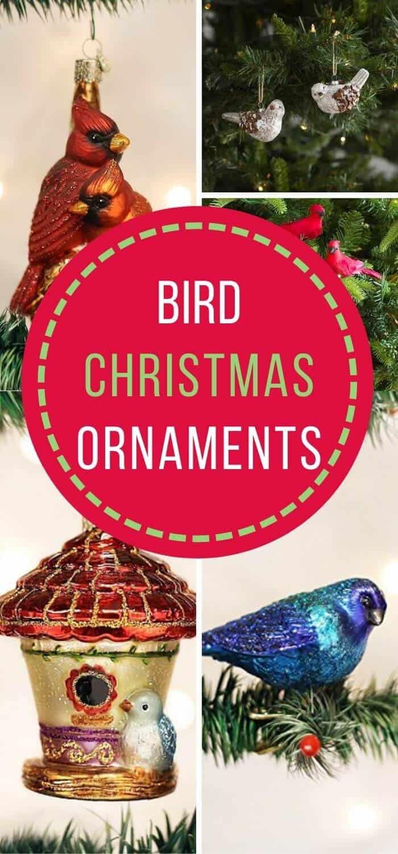 Bird Christmas Tree Ornaments - Beautiful Bird Themed Holiday Ornaments