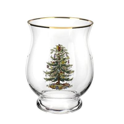 Christmas Tree Hurricane Candle Holder