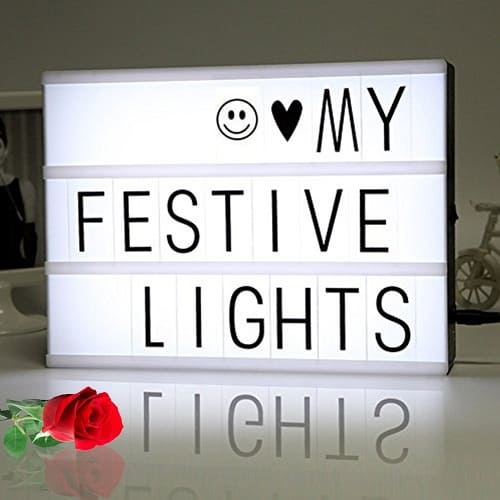 Cinema Light Box with 90 Letters and LED Light