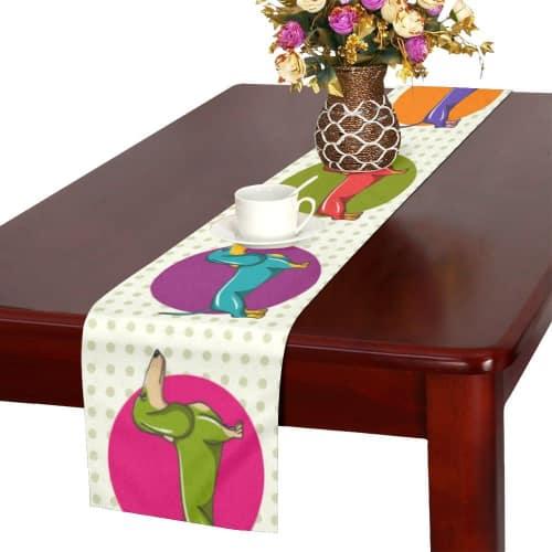 Dachshund Pop Art Table Runner