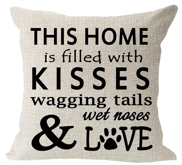 Dog Pillow Cover - Gift Idea for a Dog Lover