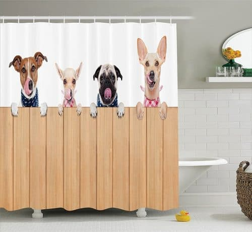 Dog Shower Curtain - Gifts for dog lovers