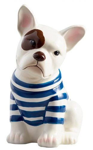French Bulldog Ceramic Cookie Jar - Pawsome gift for dog lovers!