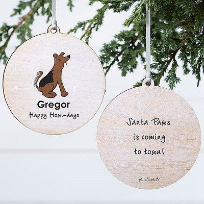 German Dog Personalized Ornament