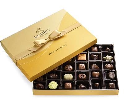 Godiva Assorted Chocolate Gold Ribbon Gift Box, 36 pc