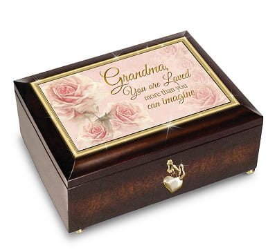 Grandma You Are Loved Music Box With Poem Card