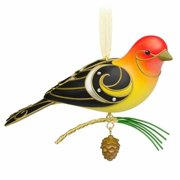 Hallmark Western Tanager Bird Christmas Tree Ornament