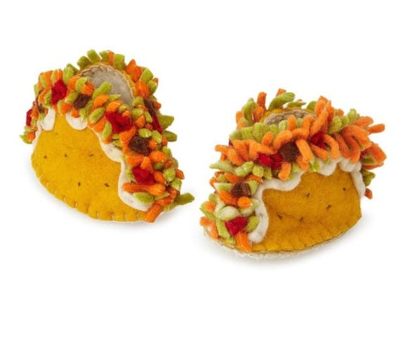 Handmade Taco Booties Baby Shoes | Unique Gifts for a Newborn Baby Girl