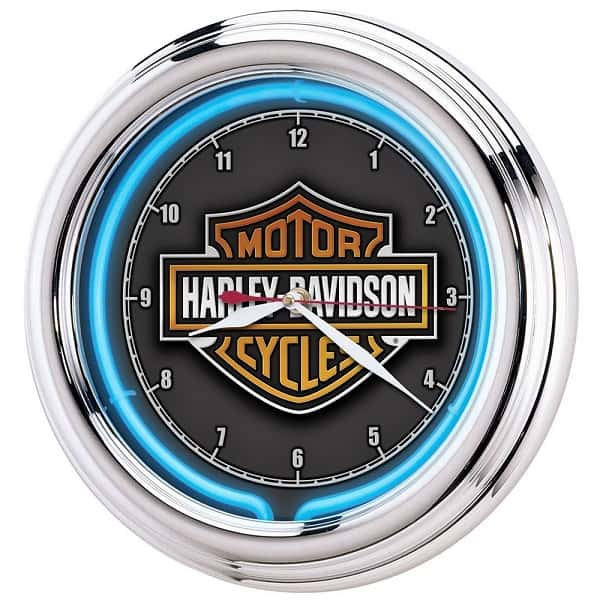 Harley Davidson Neon Clock - Cool gift for a motorcycle lover