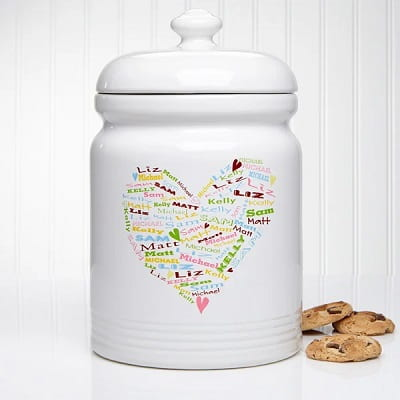 Her Heart of Love Personalized Cookie Jar
