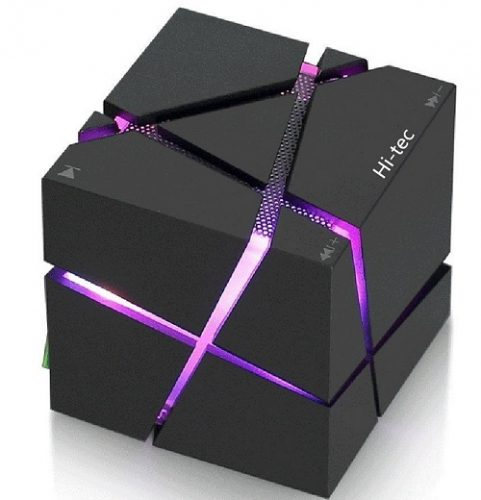 Hi-tec Led Light Cube Portable Bluetooth Speaker
