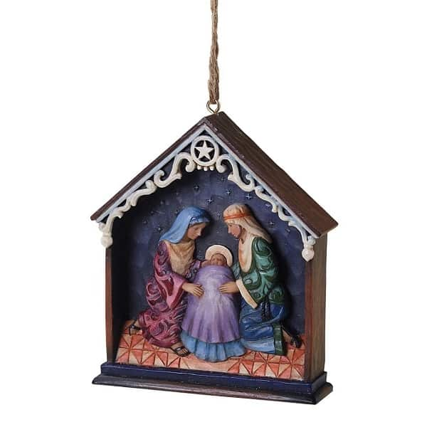 Holy Family Stable Ornament