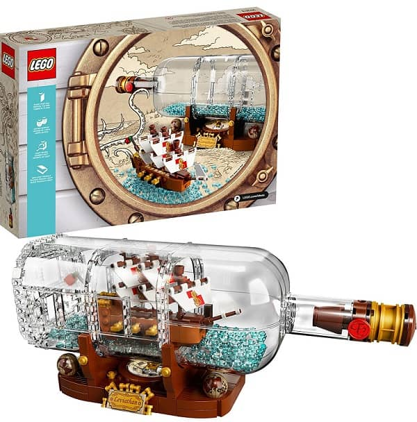 LEGO Ideas Ship in a Bottle 21313 Building Kit - Gifts for kids age 12+