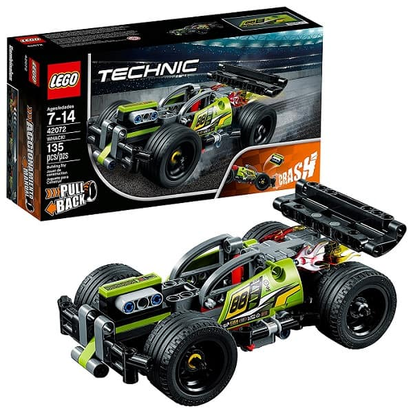 LEGO Technic WHACK! 42072 Building Kit - 135 piece LEGO kit to create a fast, cool car with pullback action! Gifts for 9 year old boys