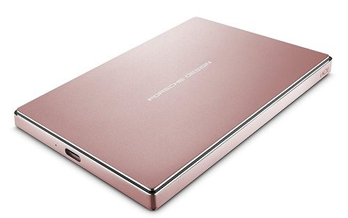 LaCie Porsche Design 2TB Mobile Hard Drive, Rose Gold