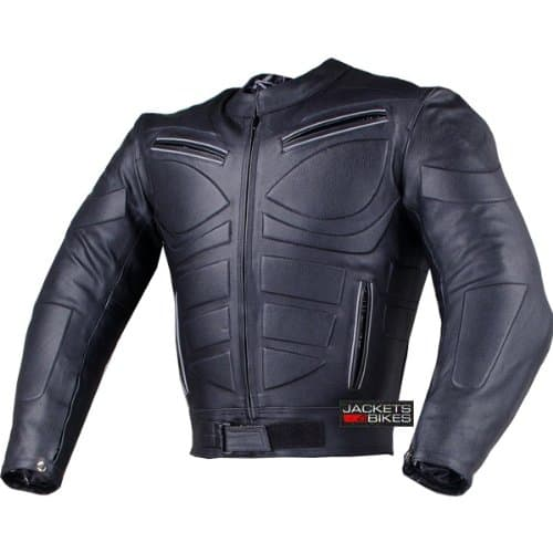 Leather Biker Jacket With Body Armor