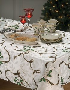 lenox holiday nouveau tablecloth | lenox holiday nouveau collection