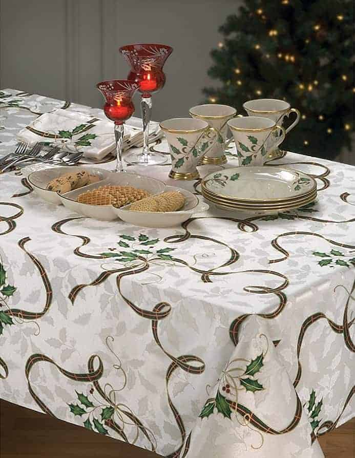 lenox holiday nouveau tablecloth lenox holiday nouveau collection absolute christmas