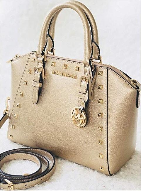 Michael Kors Studded Ciara Saffiano Leather Bag
